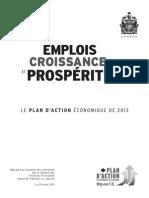 Plan d'Action Économique Du Canada 2013_( )
