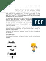Carta Del Día Del Padre