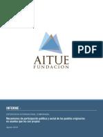 Estudio Participación Política y Social Indígena Comparada