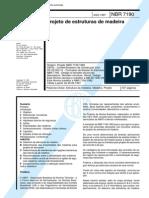 NBR 7190 - Projetos de Estrutura de Madeira
