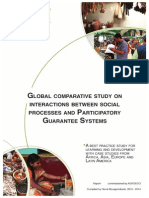 Global Study on Interactions Between Social Processes and Participatory Guarantee Systems