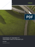 OpenScape UC Application V7 OpenScape Fusion for Microsoft Lync User Guide Issue 1