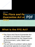 the flora and fauna guarantee act of 1988