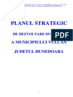 Municipiu Vulcan - Plan Strategic de Dezvoltare