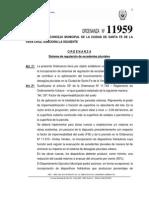 Ordenanza N 11959 - Sistema de Regulacion de Excedentes Pluviales Ciudad de Santa Fe