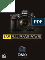 Brochure Nikon D610
