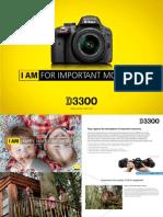 Brochure Nikon D3300