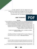 PERSPECTIVAS DEL ESTADO EN EL EJERCICIO DE NUEVAS POLÍTICAS PÚBLICAS EN EL PERÚ