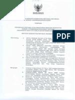 PMK No. 1295 Ttg Perubahan Pertama Atas PERMENKES No. 1575 Ttg Organisasi Dan Tata Kerja DEPKES