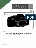 Nikon F3 Repair Manual