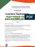 Bases Concurso Nacional Bachillerato 2015