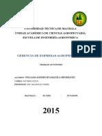 Trabajo Autonomo Gerncia de Empresas Agropecuarias