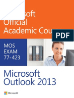 77-423 Microsoft Outlook 2013 - Microsoft Official Academic Cou