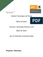 Fundamentos de Base de Datos Ejemplo de Proyecto