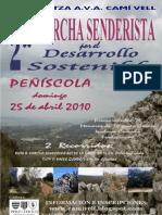 Cartel 2010 de la II Marcha Senderista por el Desarrollo Sostenible