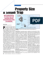 How to Properly Size a Steam Trap
