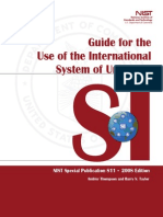Guide for the Use of the International system of units