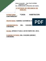 Estudio de Mecanica de Suelos de La Casa Habitacion Priv Flores Magon 2014