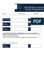 Engineering DDP Summary