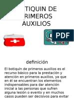BOTIQUIN DE PRIMEROS AUXILIOS paola.pptx