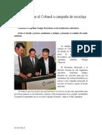 10.10.2013 Comuncado Suma Esteban Al Cobaed a Campaña de Reciclaje