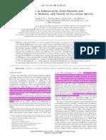 Capacidad Antioxidante (ORAC), Influenciada Por El Contenido Total de Fenoles y Antocianinas,Madurez y Variedad de Las Especies de Vaccinium