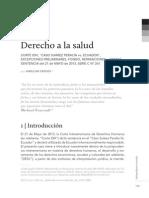 CROSIO, Amilcar. Derecho a La Salud. Comentarios a Sentencia CIDH