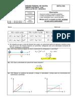FIS 191 introdução a mecânica, prova 1 resolvida