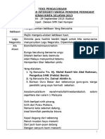 Teks Pengacara Majlis Intergriti