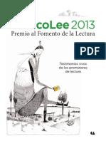 México Lee  Premio Fomento a la Lectura 2013