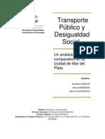 Transporte Público y desigualdad social - Ladeux, Manzoni, Miccio