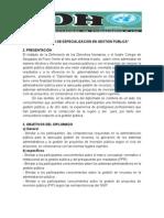 DIPLOMADO DE ESPECIALIZACIÓN EN GESTIÓN PÚBLICA.doc