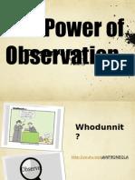 observation ppt