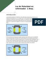 Ensayo Maquinas Electricas POLARIDAD TRANSFORMADOR