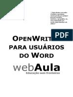 Apostila - OpenOffice Writer Para Usuarios Do Word