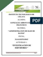 Investigacion de Servidores De Base de Datos