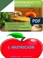 Nutricion en La Adolescencia