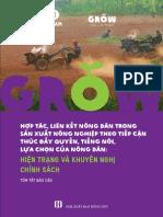 Báo cáo chương trình GROW - Hợp tác, liên kết nông dân trong sản xuất nông nghiệp theo tiếp cận thúc đẩy quyền, tiếng nói, lựa chọn của nông dân