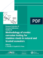 (European Federation of Corrosion Series) Ulf Kivisakk, Bard Espelid, Damien Feron-Methodology of Crevice Corrosion Testing for Stainless Steels in Natural and Treated Seawaters-Maney Materials Scienc.pdf