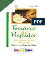 Temário Do Pregador Vol. 3 - Marcos Antônio Da Silva