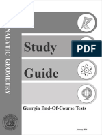 EOCT Analytic Geometry Study Guide Revised January 2014
