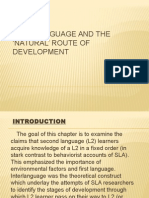 Interlanguage and the 'Natural' Route of REPORT
