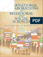 International Collaborations in Behavioral and Social Sciences Research