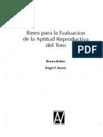 Bases Para La Evaluación de La Aptitud Reproductiva Del Toro - Rutter Russo