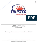 Trustco Finance Loan Application Feb 2011