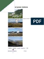 List of Geothermal Plants Across Globe
