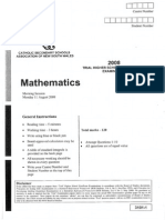 2008 CSSA Mathematics Trial