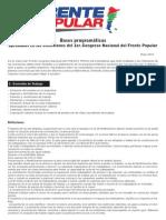 Bases Programaticas Del Frente Popular