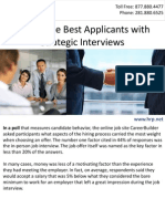 Attract the Best Applicants with Strategic Interviews