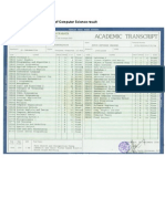 Appendix B and C - Transcript Bachelor of Computer Science (STTS University) and Project